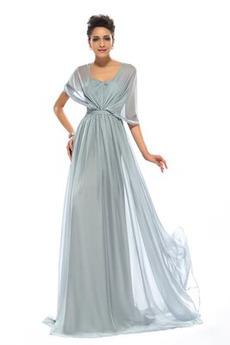 Elegant Sommer Nackenband Falte Mieder Mittelgröße Lange Abendkleid
