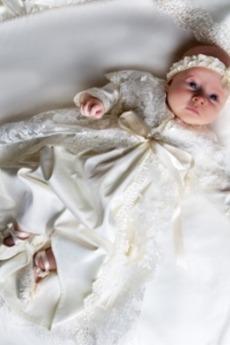 Mittelgröße Hoch Überdachte Juwel Schmetterlingsknoten Taufe Kleid