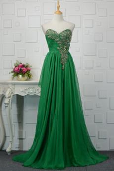 Herz-Ausschnitt Mittelgröße Elegant Drapierung Rückenfrei Abendkleid
