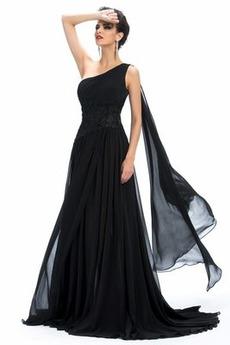 Ärmellos Ein Schulter Mitte Rücken Birneförmig Schick Abendkleid