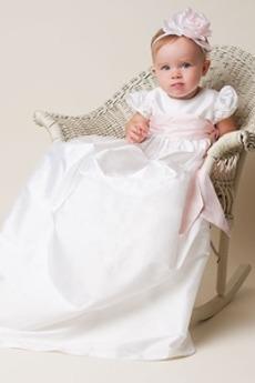 Laterne Ärmel Hoch Überdachte Prinzessin Rosendekor Herbst Taufe Kleid