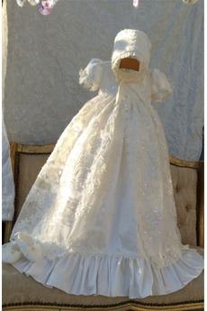 Kleine Größe Prinzessin Formell Laterne Ärmel Satin Taufe Kleid