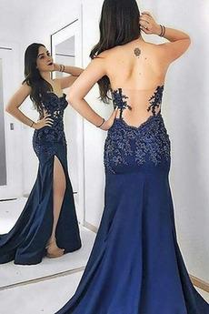 Natürliche Taille Meerjungfrau Herz-Ausschnitt Sexy Abendkleid