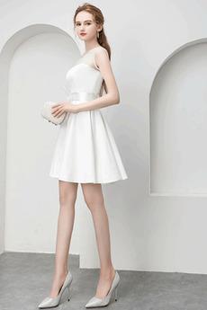Charmante Juwel Reißverschluss Natürliche Taille Sommer Abendkleid