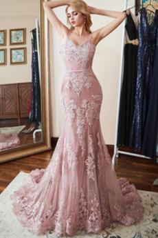 Sweep Zug Elegant Ärmellos Reißverschluss Jahr 2019 Abendkleid