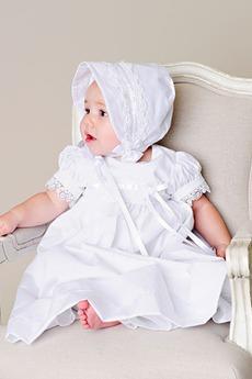 Petite Typ Satin Schmetterlingsknoten Empire Taille Taufe Kleid