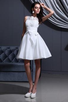 Reißverschluss Outdoor A-Linie Taft Informell Sommer Brautkleid