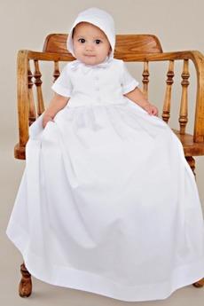Hoch Überdachte T-Shirt Hoher Kragen Lang Petite Typ Taufe Kleid