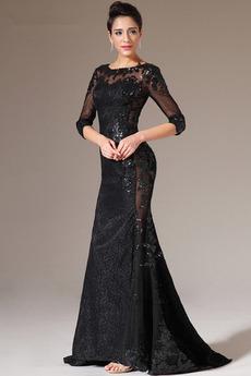 Natürliche Taille Mittelgröße Reißverschluss Das ewige Etui Abendkleid