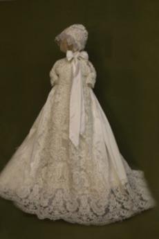 3/4 Länge Ärmel Satin Juwel Formell T-Shirt Prinzessin Taufe Kleid