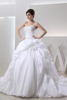 Schmuck dekorativ Mieder Ärmellos Natürliche Taille Taft Brautkleid