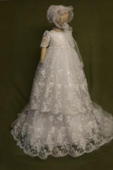 Tüll Hoch Überdachte Prinzessin Formell Lange Herbst Taufe Kleid