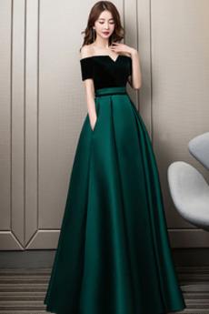 Ärmellos Natürliche Taille Tasche A-Linie Luxus Winter Ballkleid