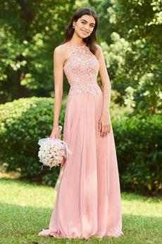 A-Linie Ärmellos Mittelgröße Juwel Elegant Reißverschluss Brautjungfernkleid
