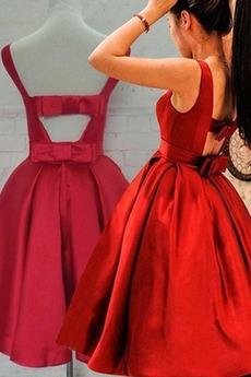 Natürliche Taille Knielang A-Linie Sommer Elegant Jahr 2019 Cocktailkleid