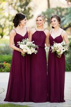 Falte Mieder Mittelgröße Natürliche Taille Pick-Ups Herbst Brautjungfernkleid