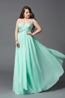 Natürliche Taille Ärmellos Elegant Chiffon A-Linie Abendkleid