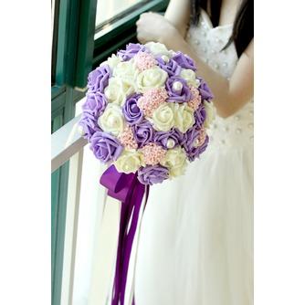 Die Braut hält eine Studio schießen Requisiten Blumenstrauß Tiffany blau weiß grün fiffany - Seite 4
