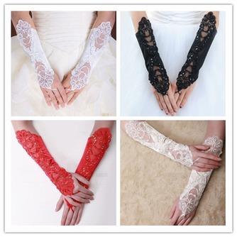 Spitze Glamouröse multifunktionale Geeignete Outdoor Hochzeit Handschuhe - Seite 2