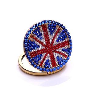 Tragbare Großhandel Nationalflagge doppelseitige Intarsien Diamant M Wort kleine Spiegel & Kamm - Seite 1