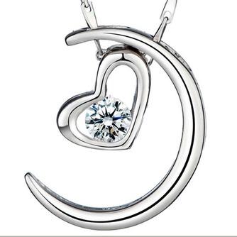 Plating Heart-shaped Dekoration heißer Verkauf & Anhänger Halskette Silber - Seite 1