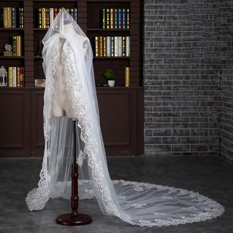 Verlängerter und verbreiterter Schleier 3 Meter langer Schwanzschleier Braut Hochzeit Zubehör Großhandel - Seite 4