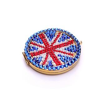 Tragbare Großhandel Nationalflagge doppelseitige Intarsien Diamant M Wort kleine Spiegel & Kamm - Seite 2