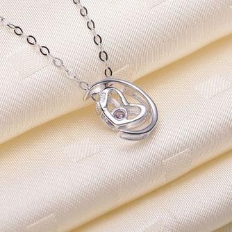 Plating Heart-shaped Dekoration heißer Verkauf & Anhänger Halskette Silber - Seite 3