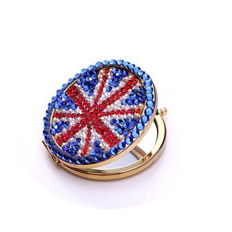 Tragbare Großhandel Nationalflagge doppelseitige Intarsien Diamant M Wort kleine Spiegel & Kamm - Seite 3