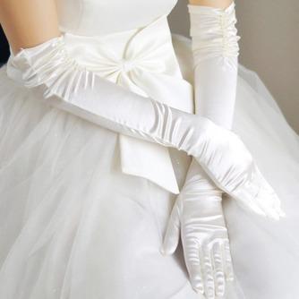 Taft Gerüscht Dicke Romantisch Outdoor Winter Hochzeit Handschuhe - Seite 1