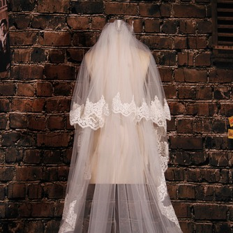 Großer Schleppspitzenschleier Brautschleier langer Schleier Hochzeitsschleier - Seite 3