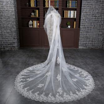 Verlängerter und verbreiterter Schleier 3 Meter langer Schwanzschleier Braut Hochzeit Zubehör Großhandel - Seite 2