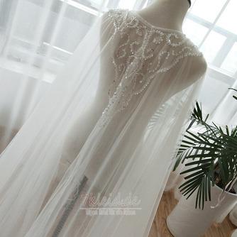 Tüll Perlen Mantel Hochzeit Schal Hochzeit Accessoires - Seite 5