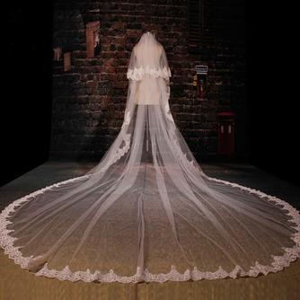 Großer Schleppspitzenschleier Brautschleier langer Schleier Hochzeitsschleier - Seite 4