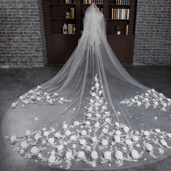 Braut Retro Schleier Hochzeit schleppend langen Schleier Blumenschleier - Seite 1