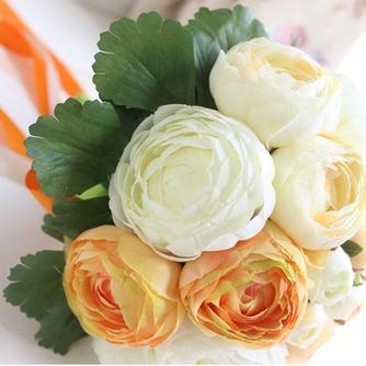 Weiße hand die Pfingstrose koreanischen Bräute Huashan Kamelie Simulation rote Hochzeit bouquet - Seite 2