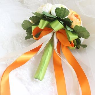 Weiße hand die Pfingstrose koreanischen Bräute Huashan Kamelie Simulation rote Hochzeit bouquet - Seite 3