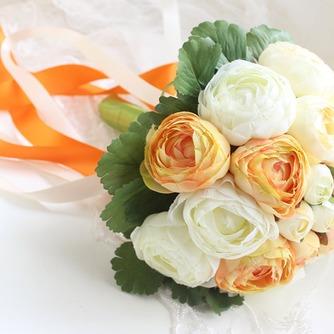 Weiße hand die Pfingstrose koreanischen Bräute Huashan Kamelie Simulation rote Hochzeit bouquet - Seite 1