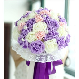 Die Braut hält eine Studio schießen Requisiten Blumenstrauß Tiffany blau weiß grün fiffany - Seite 1