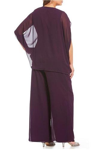 Knöchellang Hoch Überdachte V-Ausschnitt Natürliche Taille Hosenanzug Kleid - Seite 2