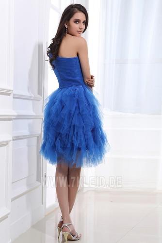 Natürliche Taille Ein Schulter Reißverschluss Romantisch Prinzessin Abendkleid - Seite 4