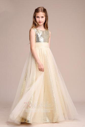 Tüll Juwel Ärmellos Elegant Reißverschluss Sommer Blumenmädchenkleid - Seite 3