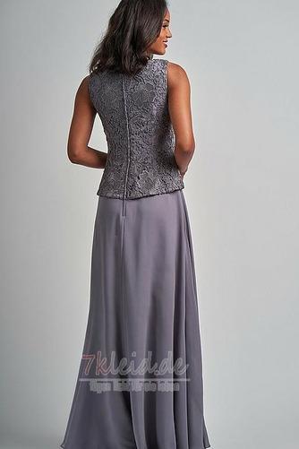 Ärmellos Vintage Herbst Quadrat Mit Jacke Lange Brautmutterkleid - Seite 2