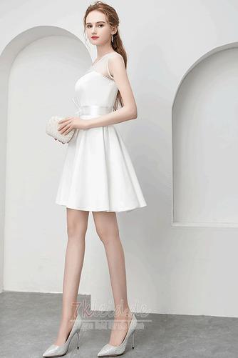Charmante Juwel Reißverschluss Natürliche Taille Sommer Abendkleid - Seite 1