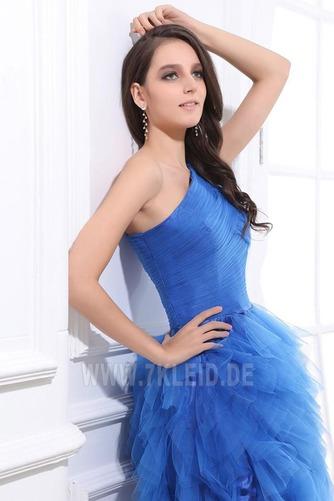 Natürliche Taille Ein Schulter Reißverschluss Romantisch Prinzessin Abendkleid - Seite 5