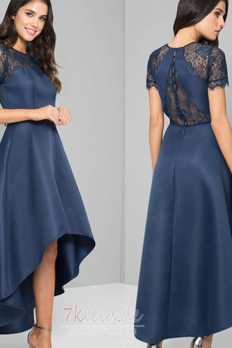 Glamouröse Hoch Niedrig Spitzen-Overlay Asymmetrisch Abendkleid - Seite 1