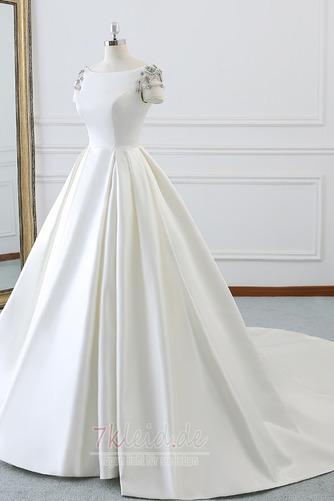 Rücken Schnürung Lange Birneförmig Natürliche Taille Drapierung Brautkleid - Seite 4