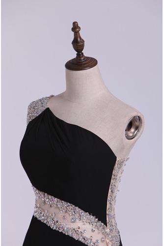 Ärmellos Kurz Perlengürtel Natürliche Taille Dünn Etui Cocktailkleid - Seite 9