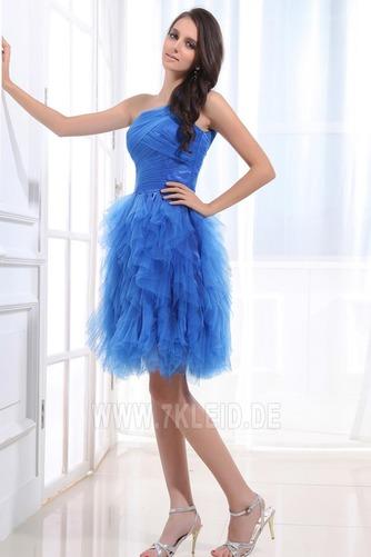 Natürliche Taille Ein Schulter Reißverschluss Romantisch Prinzessin Abendkleid - Seite 2
