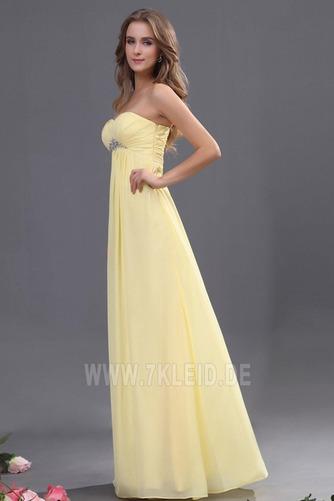 Elegant Chiffon Mitte Rücken Apfelförmig Trägerlos Abendkleid - Seite 2